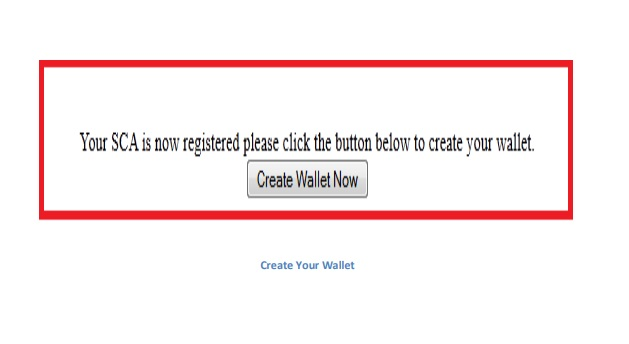 create your wallet