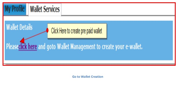 go to wallet creation